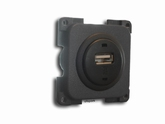 socket, build in, USB, dark gray, 12V > 5V  (per stuk)