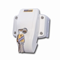 door frame lock (twist lock), white  (per stuk/p.p.)