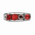 rear light, left, Caraluna, chrome, camper   (per stuk/p.p.)